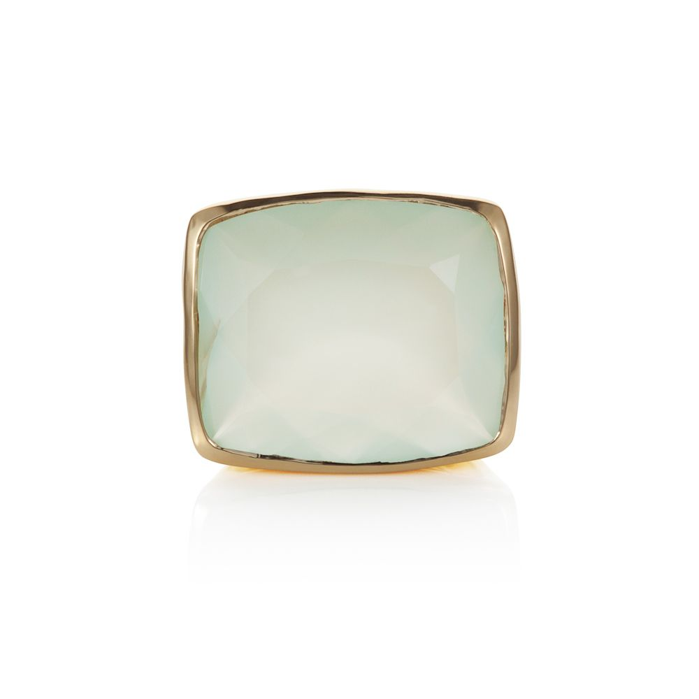 18ct gold plated sterling silver 15.70ct aqua cha