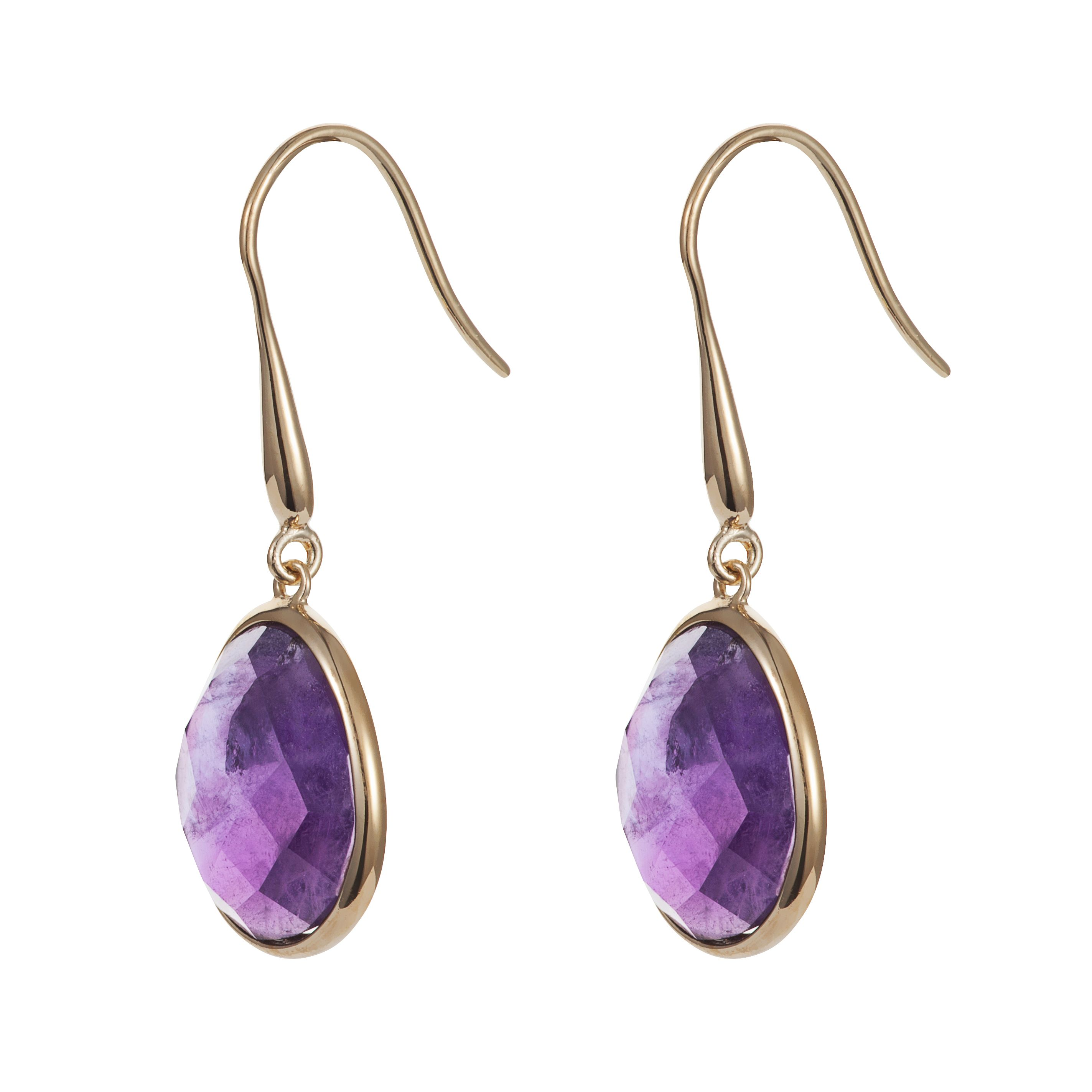 18ct gold plated sterling silver 9.50ct amethyst