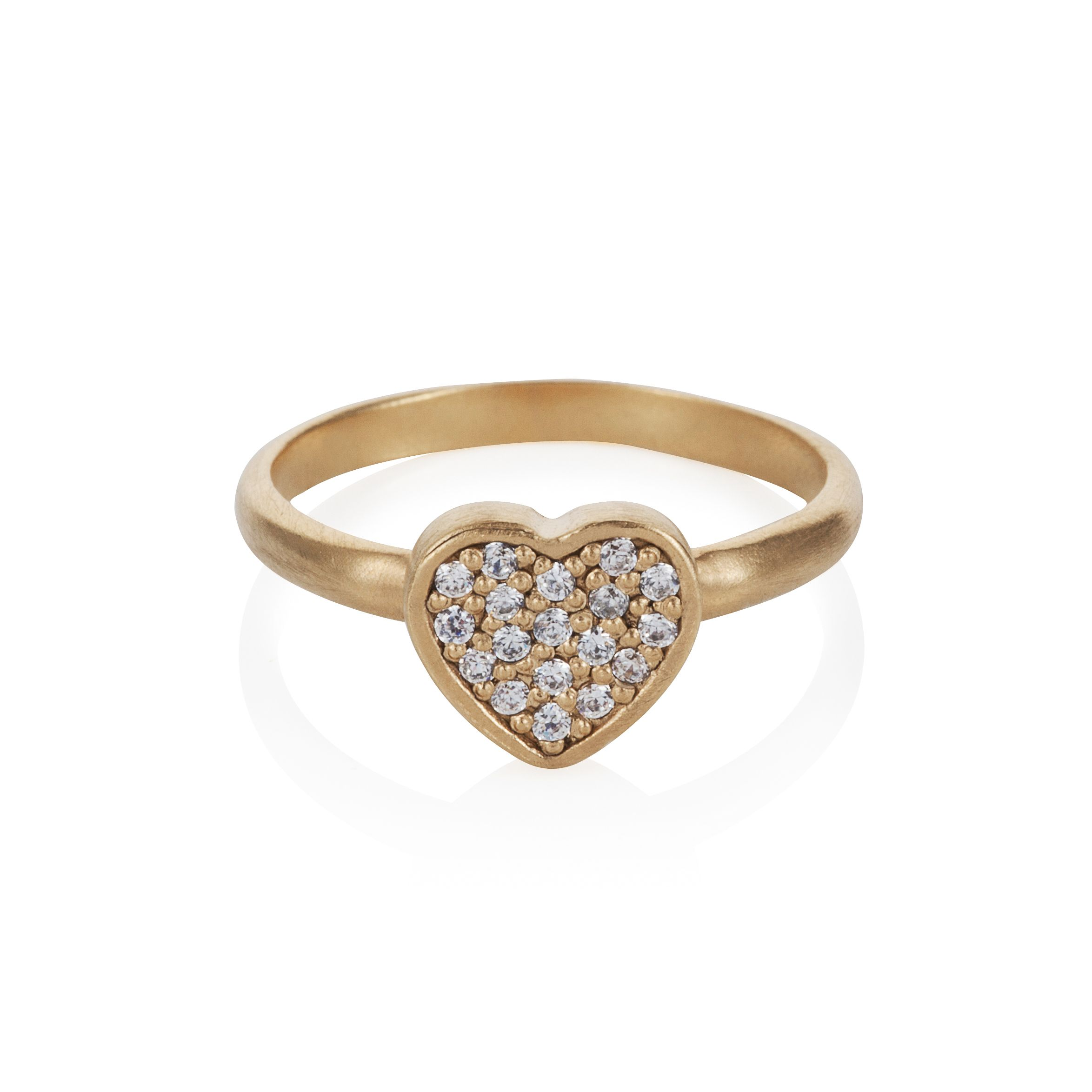 18ct gold plated sterling silver heart ring