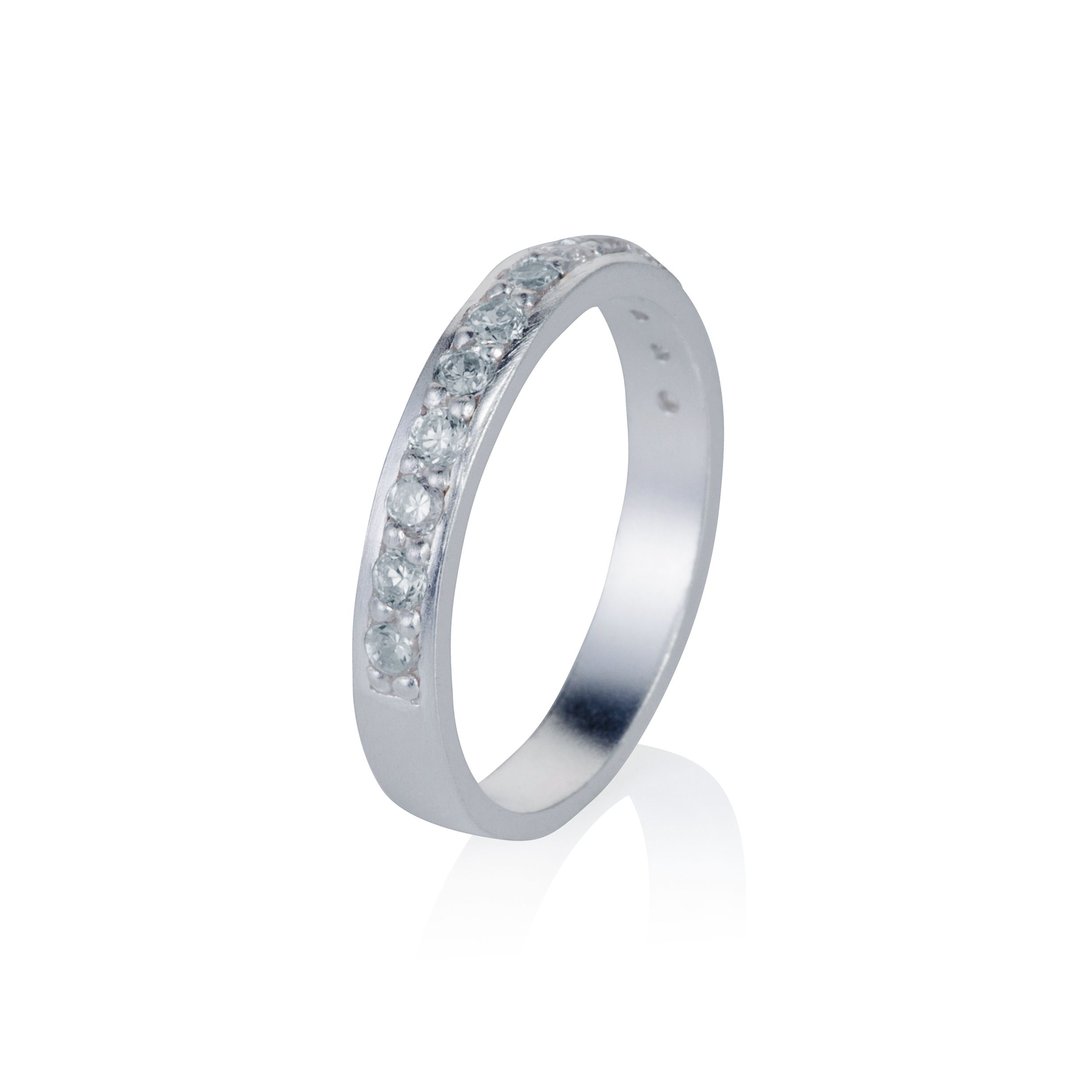 Sterling silver eternity stacker ring