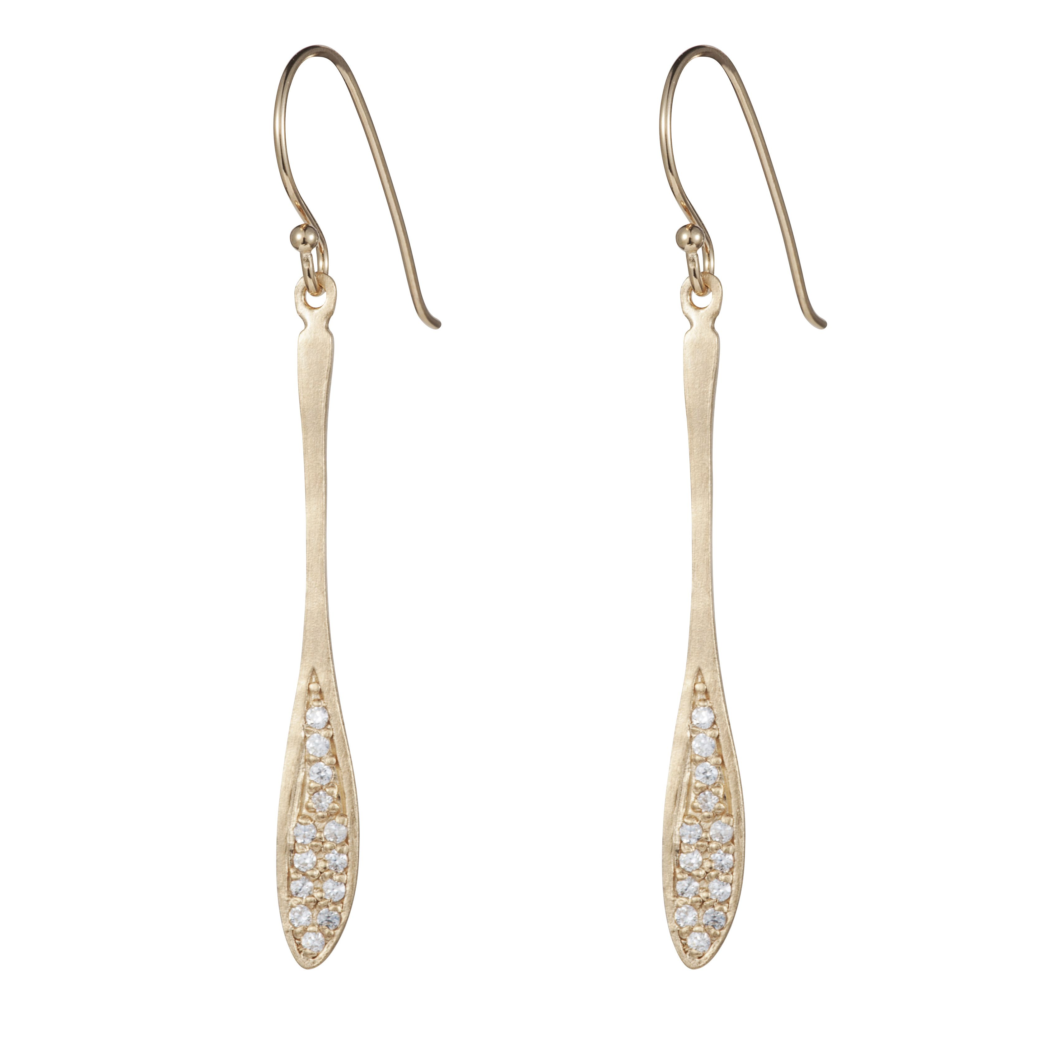 Sterling silver signature drop earrings
