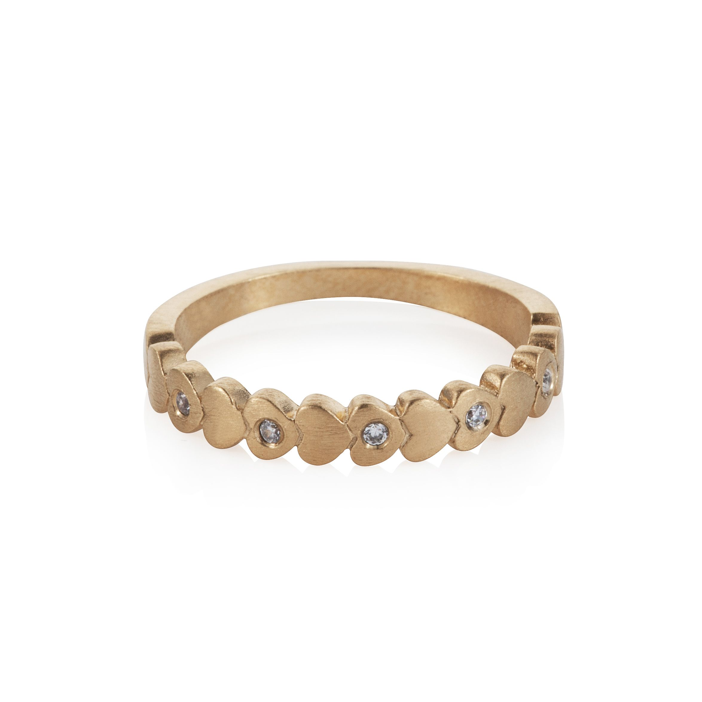 18ct gold plated hearts stacker  ring