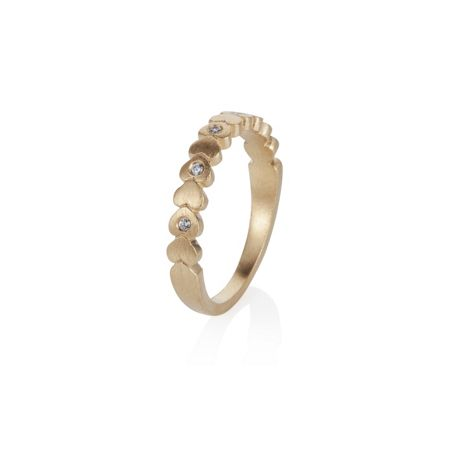 Caroline Creba 18ct gold plated hearts stacker  ring