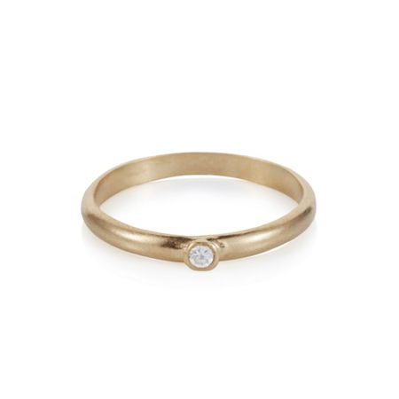 Caroline Creba 18ct gold plated sterling silver solitaire charm