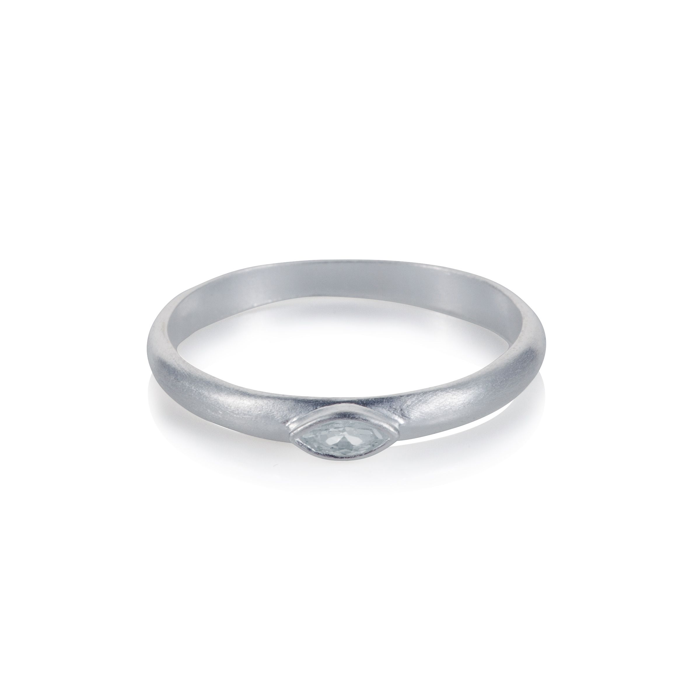 Sterling silver black rhodium plated marquise cha