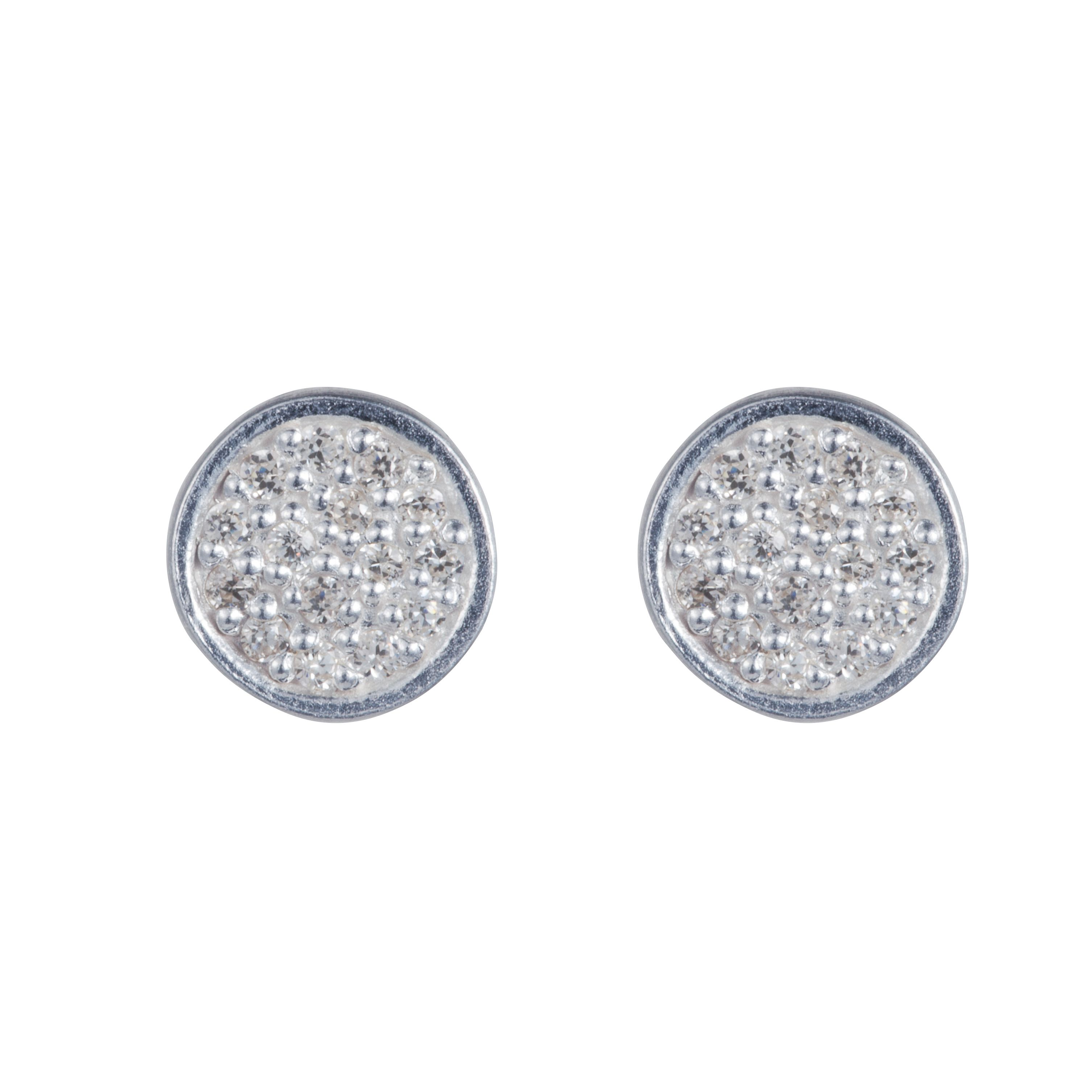 Sterling silver charm stud earrings