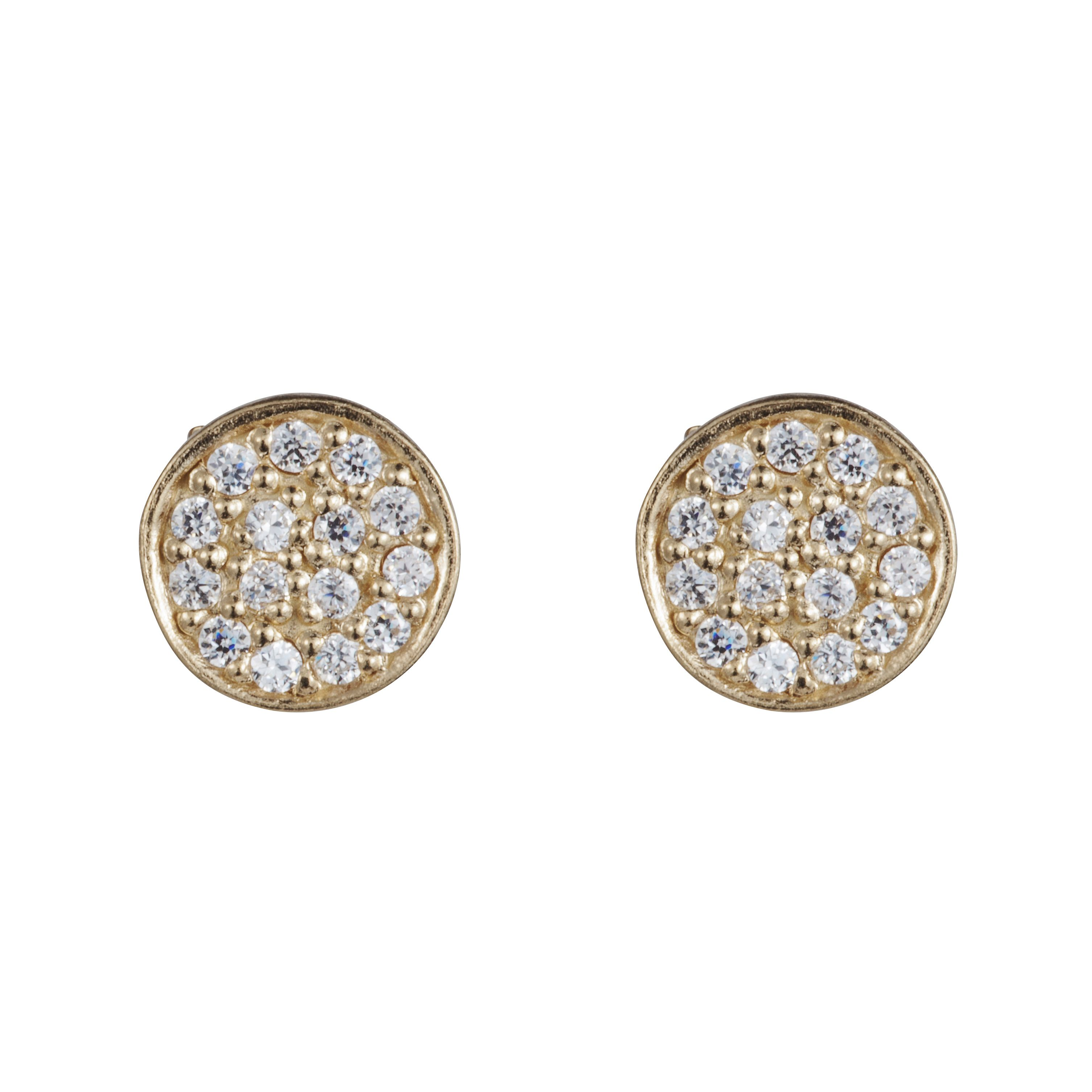 18ct gold plated sterling silver stud earrings
