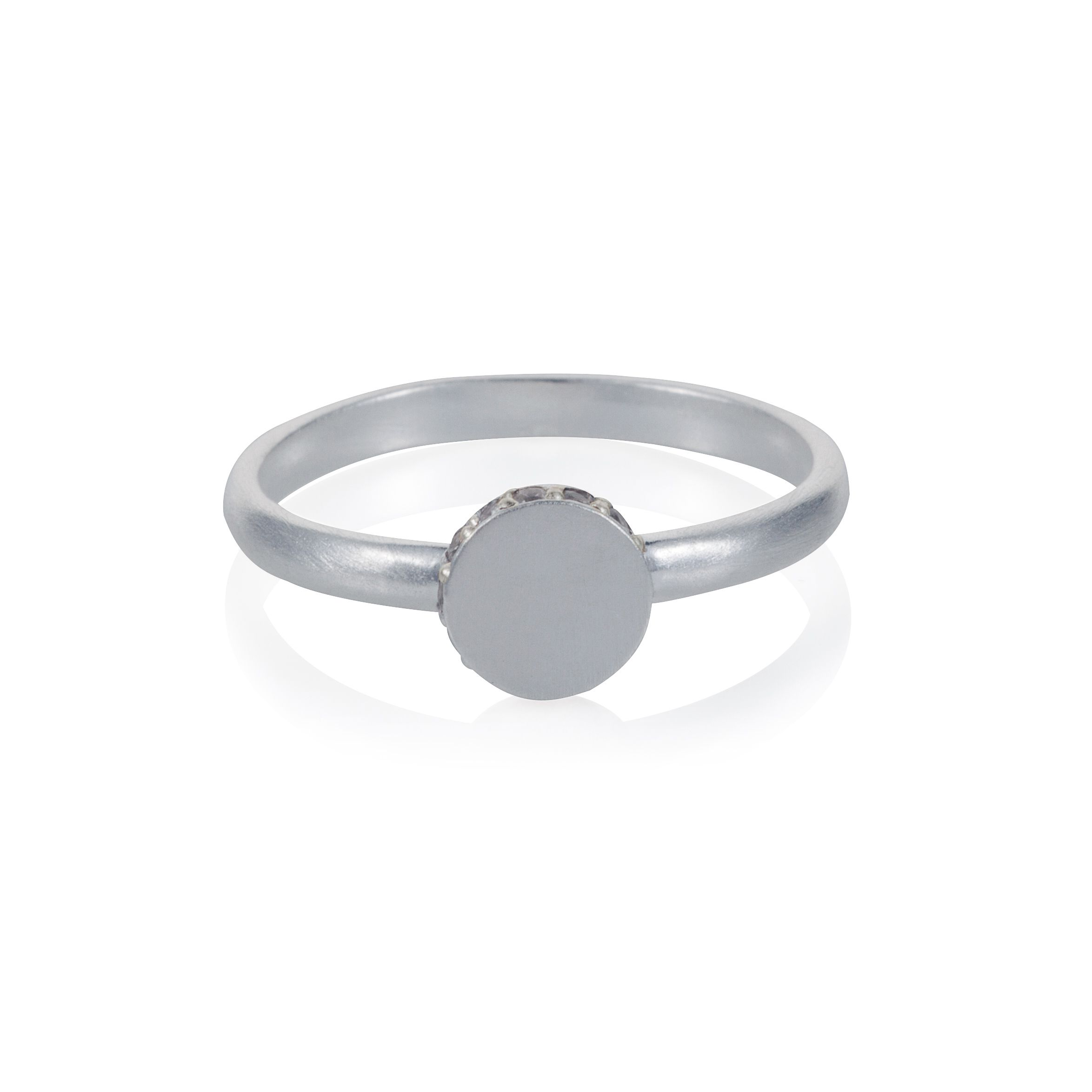 Sterling silver circle accent ring