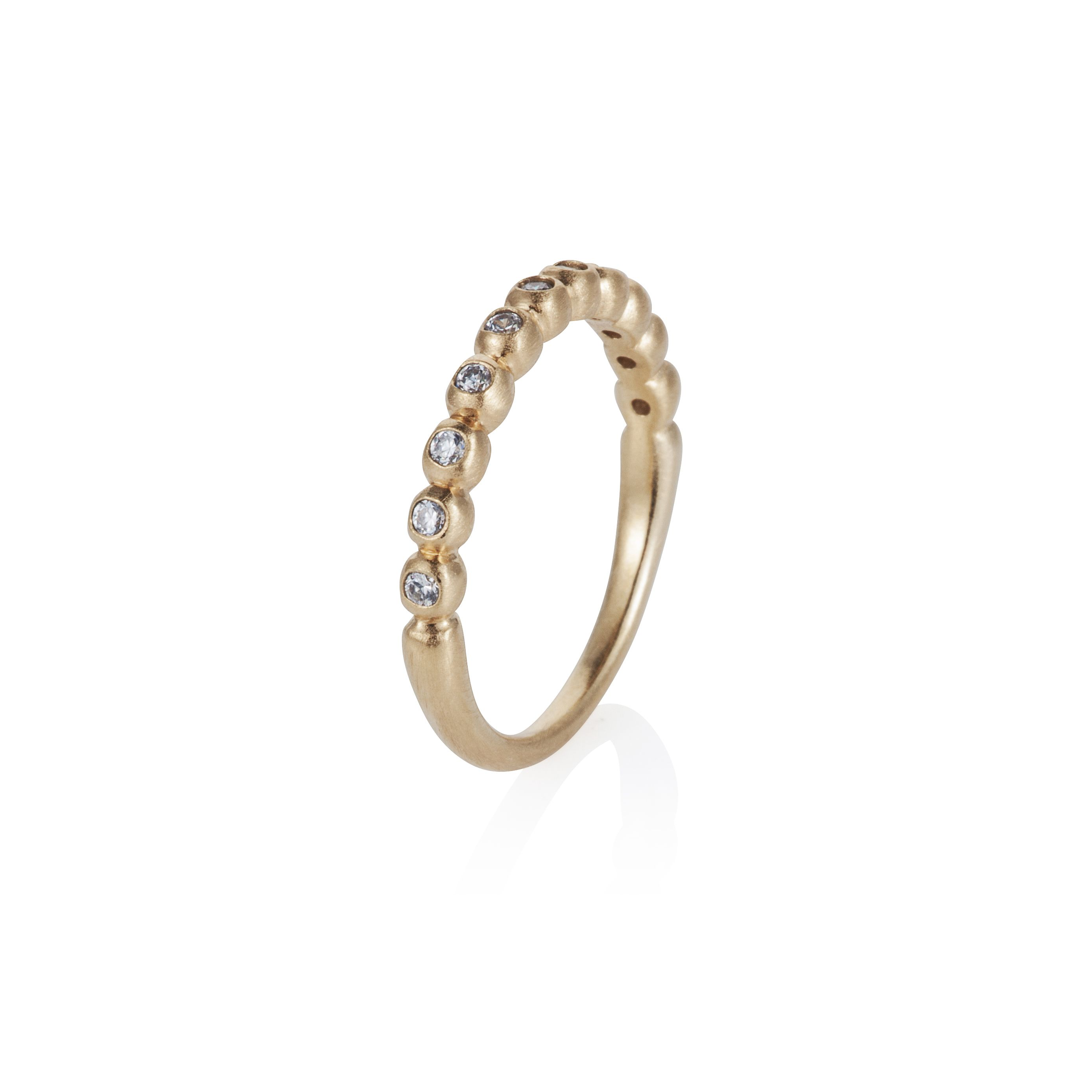 18ct gold plated sterling silver stacker ring