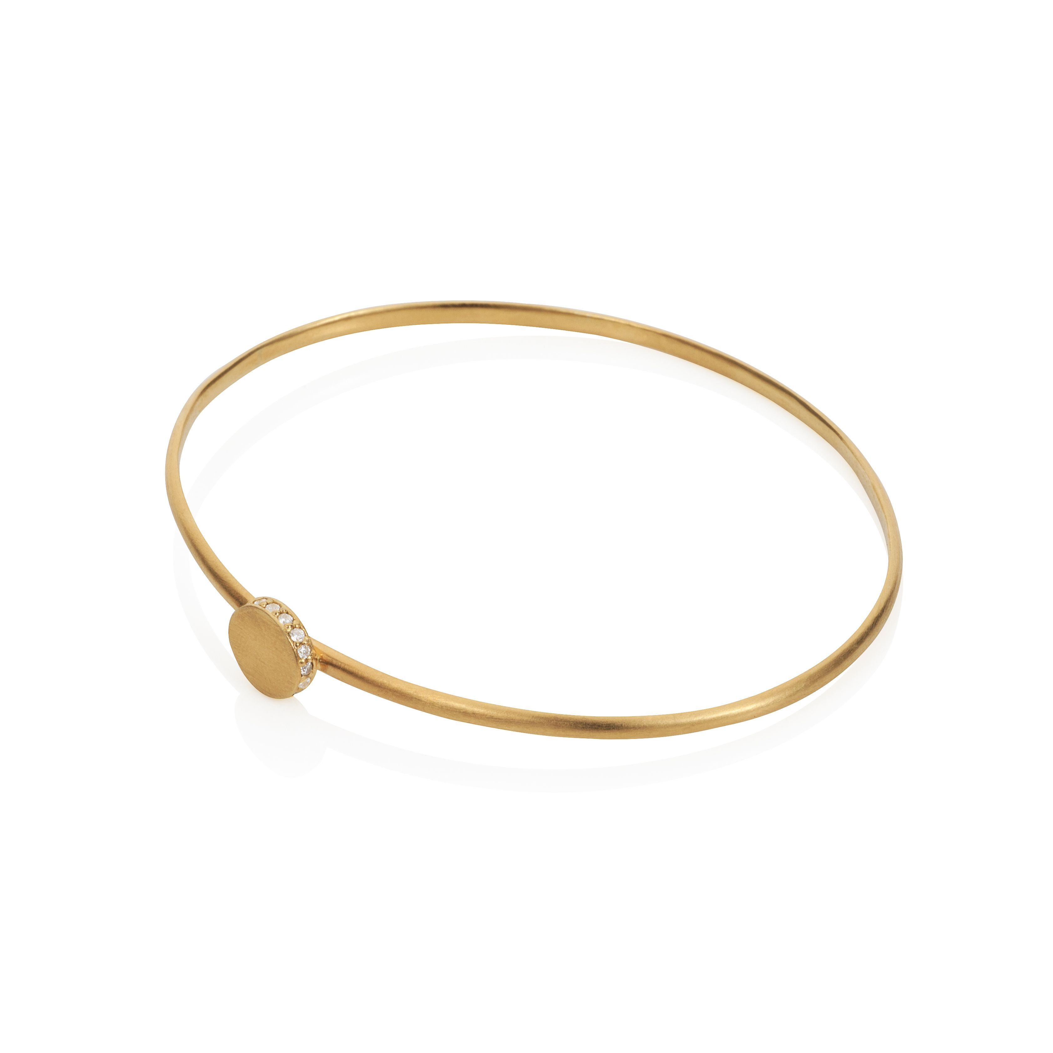 18ct gold plated sterling silver circle bangle