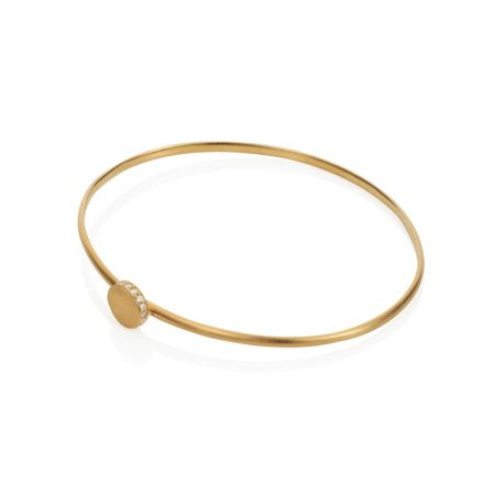 Caroline Creba 18ct gold plated sterling silver circle bangle