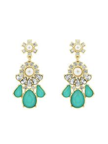 Aurora Flash Gold Plated Turquoise Fancy Earrings