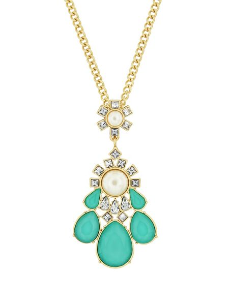 Aurora Flash Gold Plated Turquoise Fancy Pendant