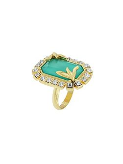 Gold plated fancy ring