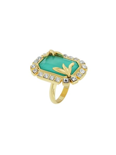 Aurora Flash Gold plated fancy ring