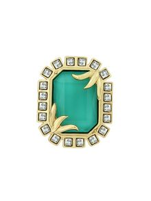 Aurora Flash Gold Plated  Turquoise Fancy Brooch