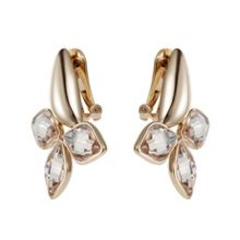 Aurora flower clip earrings