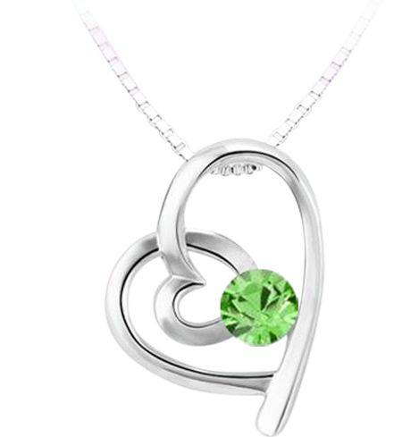 Aurora Flash Crystal heart pendant