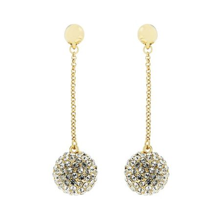 Aurora Flash Gold plated crystal earrings