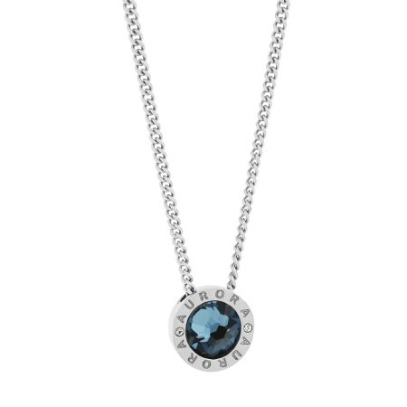 Aurora Rhodium Plated Pendant and Earrings Set