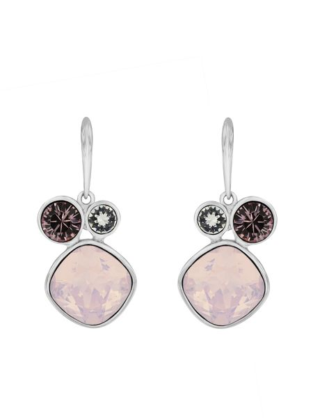 Aurora Rhodium plated crystal earrings