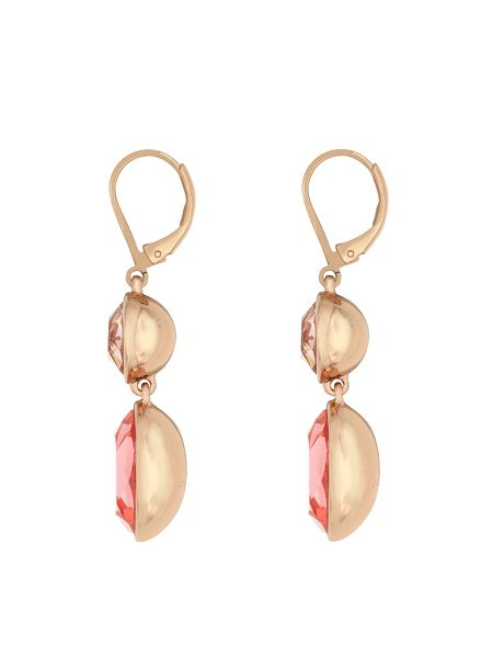 Aurora Rose gold plated crystal drop earrings