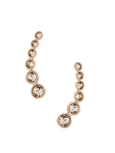 Aurora Rose gold plated crystal earrings