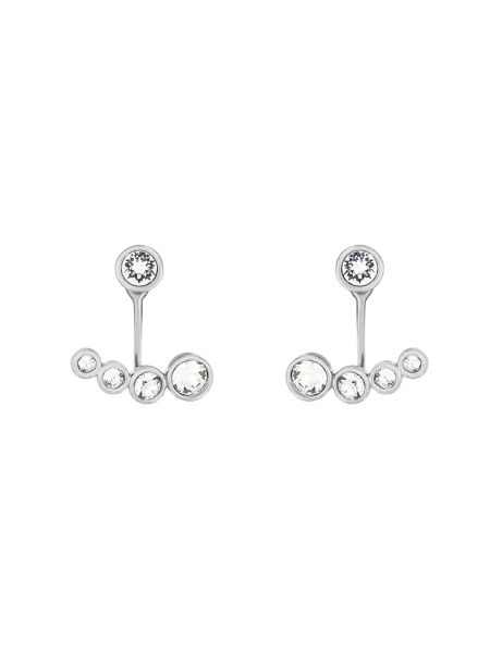 Aurora Rhodium plated crystal ear jackets