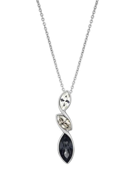 Aurora Rhodium plated crystal pendant