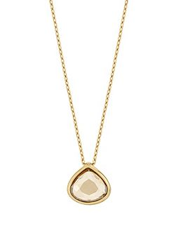Gold plated pear shape pendant