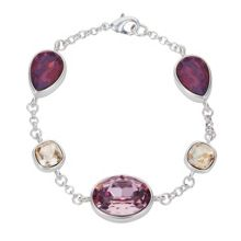 Aurora Flash Silver plated teardrop crystal bracelet