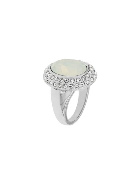 Aurora Flash Rhodium plated crystal cocktail ring