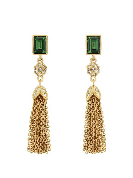 Aurora Flash Gold plated tassle drop earrings