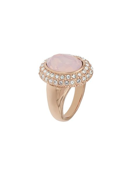 Aurora Flash Rose gold plated crystal cocktail ring