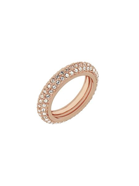 Aurora Flash Rose gold plated eternity crystal ring