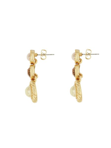 Aurora Flash Gold plated faux pearl earrings
