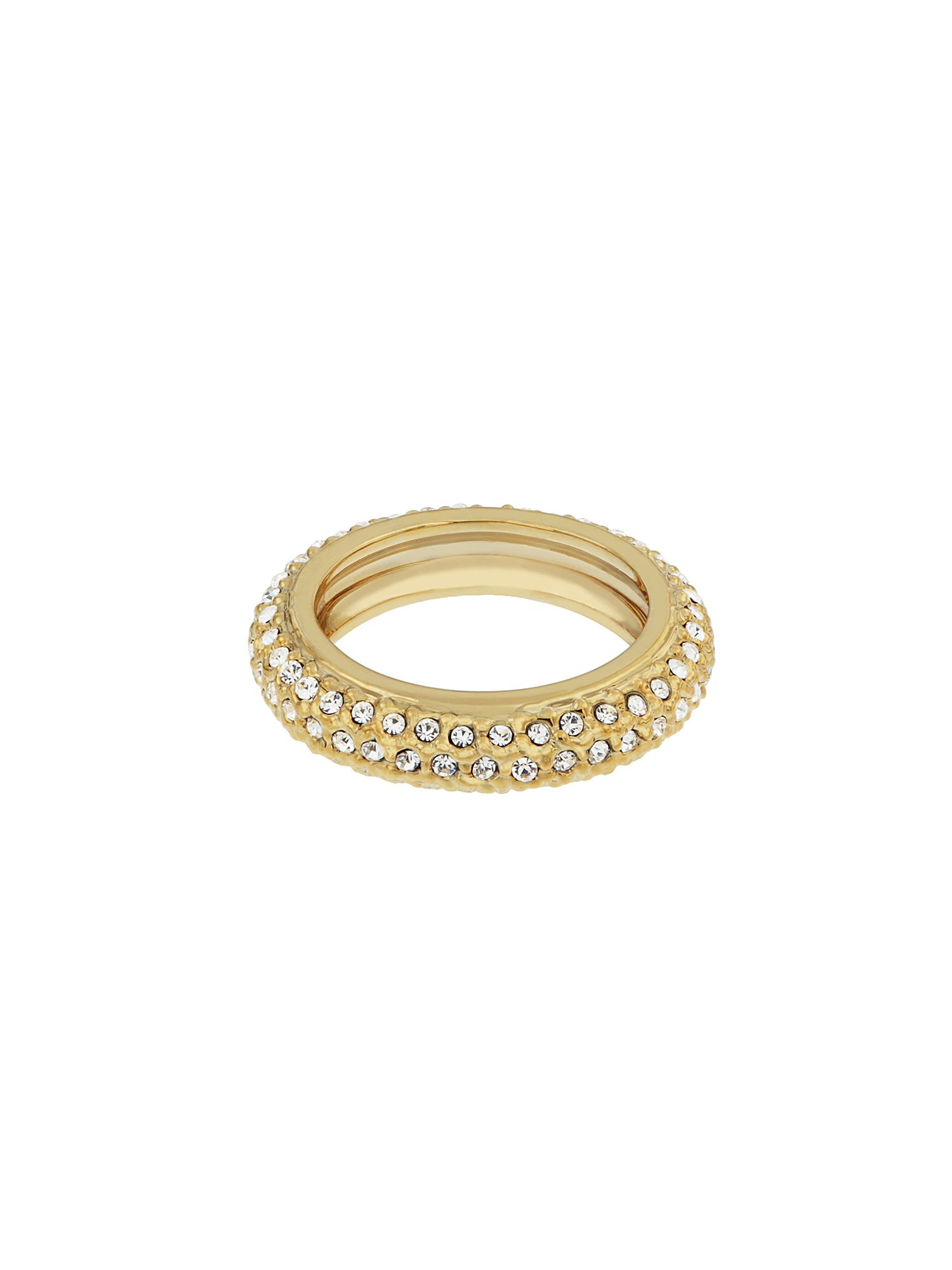 aurora flash gold plated eternity crystal ring