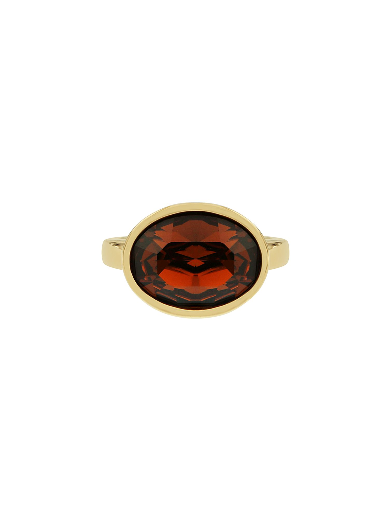 Aurora Flash Aurora Flash Gold plated oval crystal ring, Gold Yellow