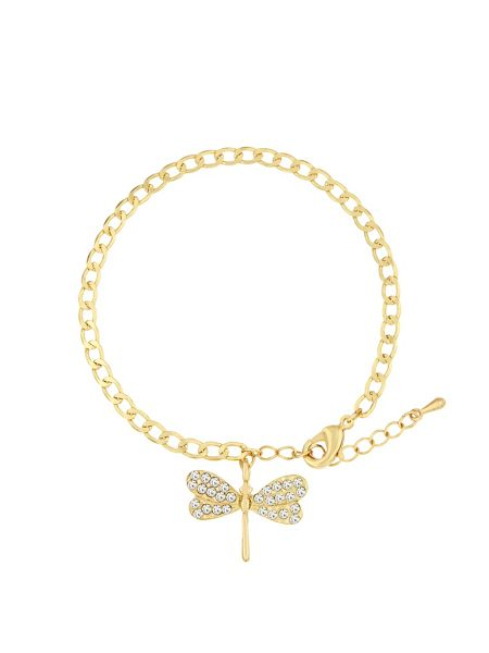 Aurora Flash Gold Plated Bracelet With Crystal Charm