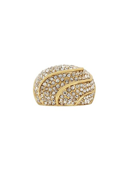 Aurora Flash Gold Plated Crystal Dome Ring