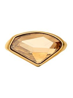 18ct gold plated crystal ring