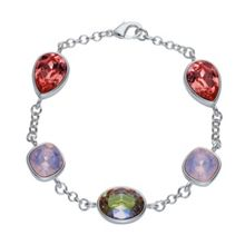 Aurora Flash Rhodium Plated Muti Crystal Bracelet