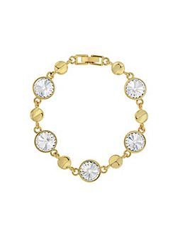 Gold Plated Round Crystal Bracelet