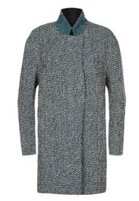 Spray Tweed Wool Cocoon Coat