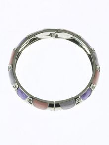 Indulgence Jewellery Lilac and coral round bangle