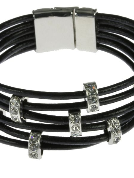 Indulgence Jewellery Black 6 string cord bracelet