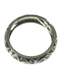 Indulgence Jewellery Dark grey round bangle