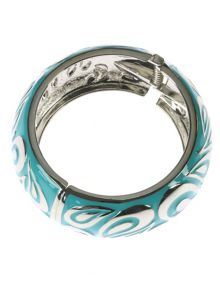 Large turquoise round bangle