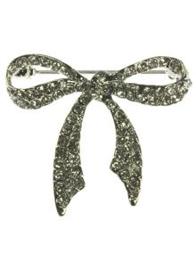 Indulgence Jewellery Crystal bow brooch