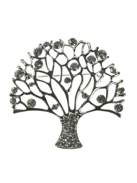 Indulgence Jewellery Crystal tree of life brooch